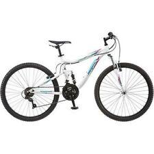 "Mongoose Women's Mountain Bike Bicycle Aluminum Frame 26"" Full Suspension"