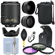Nikon 55-200mm f/4-5.6G ED IF AF-S DX VR Nikkor Zoom Lens + Accessory Bundle
