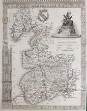 1841 antique map; Lancashire par Thomas Moule
