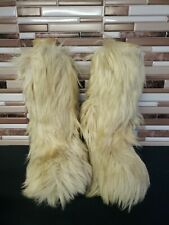 Vintage Roluc Ideal Goat Long Fur Winter Boots Size 42 11.5 see photos