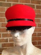 Vintage ANNEMARIE CLAUS Wiesbaden Germany Red Military Cadet Felt Wool Medium