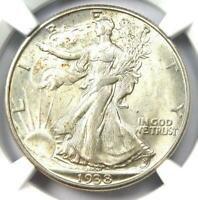 1938-D Walking Liberty Half Dollar 50C - NGC AU58 - Rare Date - Looks MS/UNC!