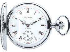 Pocket Watch Ornate Half Hunter with 17 Jewel Mechanical Movement - Luxury Gift