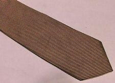IKE BEHAR Black & Mauve Diagonal Pin Stripe Necktie Tie SILK
