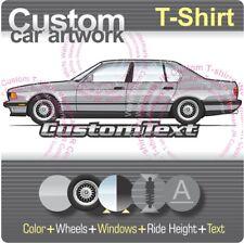 Custom T-shirt for BMW E32 7-Series 1987 88 89-94 750iL Highline 735i 740i 750i