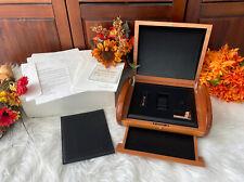 Carl F. Bucherer Wooden Watch Case Box Patravi Leather Interior Outer Box Manual