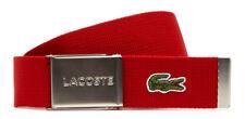 Lacoste Cintura Casual Woven Strap W90 Red