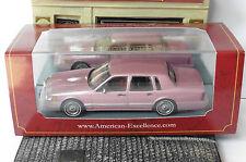 LINCOLN TOWN CAR METALLIC ROSE 1990 NEO 45508 1/43 RESIN RESINE AMERICAN METAL