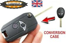 BMW MINI COOPER R50 R53 S ONE 2 BUTTON REMOTE FLIP KEY FOB CASE CONVERSION JCW
