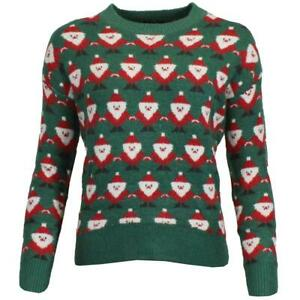 Womens Xmas Novelty Christmas Santa Jumper Knitted Sweater