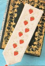 FRUITS OF SUMMER Cross Stitch pattern from magazine - strawberry bookmark