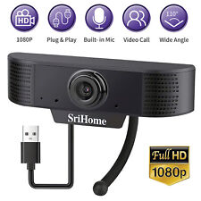 1080P HD Webcam USB Computer Web Camera Cam W/Microphone PC Laptop Desktop Video