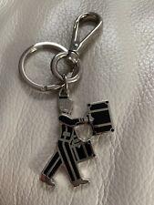 PRADA Silver Bellhop Key Ring