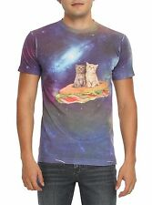 CATS T-SHIRT XXL CATS ON A SUB SANDWICH IN SPACE! TEE SHIRT! FREE SHIP! NEW!