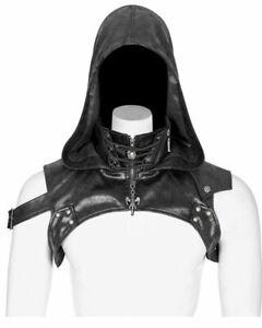 Punk Rave Men's Steampunk Harness Faux Leather Hood