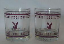 Great Playboy Bunny Barware Spirit Glasses x 2  *150ml *Purple Logos