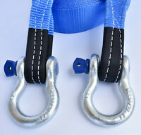 """Heavy Duty Tow Strap 3/"""" X 30/' Recovery Rescue 14000 LB Break Towing 2 Pair"""