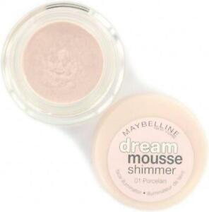 MAYBELLINE DREAM MOUSSE SHIMMER FACE ILLUMINATOR - 01 PORCELAIN **BRAND NEW**