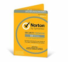 Norton Security Premium + Backup 25GB 10-Devices 1Year Download Version - 2017