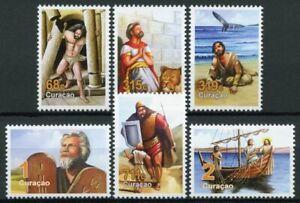 Curacao Biblical Figures Stamps 2019 MNH Jonah & Whale David & Goliath 6v Set