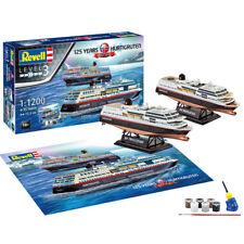 """REVELL Gift Set """"125 Years Hurtigruten"""" 1:1200 Ship Model Kit 05692"""