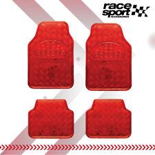 Car Floor Mats Red 4 Piece Metallic Aluminum Universal Fit Fits 2012 Toyota Camry