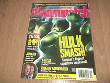 DREAMWATCH MAGAZINE - NO. 104 MAY 2003 SCI-FI STARGATE JOHN DOE HULK