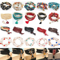10pcs Snake Chain Silver Plated Charm Bracelet European Beads Plain Clasp 7Size
