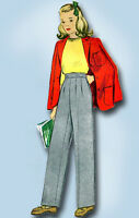 1940s Vintage McCall Sewing Pattern 4816 WWII Little Girls Slacks or Trousers 8