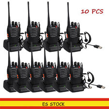 10 x Baofeng walkie talkie BF-888S transceptor recargable 16 Canales CDCSS UHF