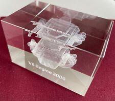 V8 MOTOR ENGINE 3D GLAS LASER GRAVUR TOYOTA PANASONIC RACE 2006 PAPERWEIGHT