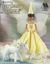 Fantasy Angels Fairy Unicorn Crochet Fashion Doll Dress Clothing Patterns NEW