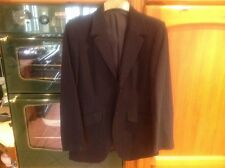 NEXT LADIES JACKET SIZE 12 100% PURE NEW WOOL NAVY BLUE With Stripe VGC
