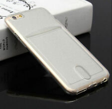 Ultra Slim Clear Card Holder Soft TPU Protective Case Cover For iPhone 6S 7 Plus