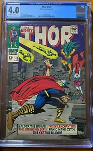 The Mighty Thor #143 Silver Age 8/67 (CGC Certified 4.0)