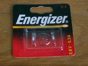 Energizer TL-2 2.6 volt 0.3 amp bulb 107-25014 NR. 01940A ~ 1 x 2 bulbs