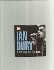 IAN DURY & THE BLOCKHEADS: LIVE - NEWSPAPER PROMO CD