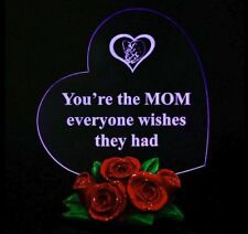 Mother's Gifts Heart shaped with LED Light and Base Rose Gift for MOM