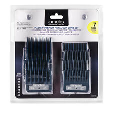 Andis Master Premium Metal Clip 7pc Clipper Guard Comb Guide Set for #33645