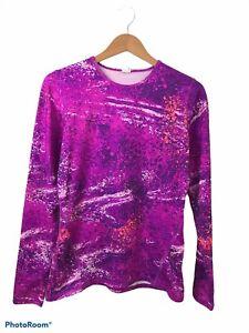 Champion Duo Dry Purple Long Sleeve Athleticwear Pullover Shirt Size Medium
