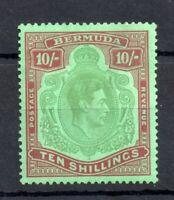 Bermuda KGVI 1938-53 10/- mint LHM Perf 14 WS13025