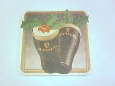Vintage GUINNESS - SEASON'S GREETINGS   Beermat / Coaster - 2 sided -