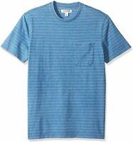 Goodthreads Men's Short-Sleeve Indigo, Light Indigo Narrow Stripe, Size Medium m