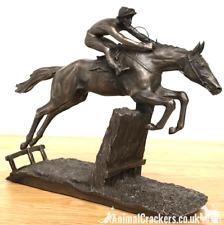 David Geenty 'At Full Stretch' bronze racehorse ornament figurine sculpture gift