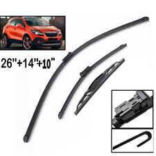 """26""""14""""10""""Front Rear Windscreen Wiper Blades Kit Set Fit For Holden Trax 2013->"""