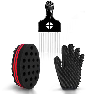 Hair Sponge Set - Magic Hair Twist Sponge Brush Curl Sponge Glove Right with 1