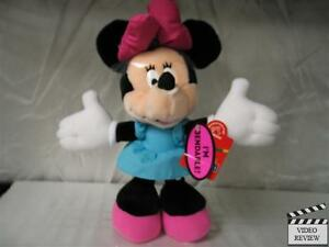 Minnie Mouse 12 inch poseable doll, Pink and Blue, Disney; Applause NEW