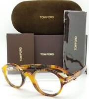 NEW Tom Ford RX Glasses Frame Light Tortoise TF5490 056 46 AUTHENTIC Round Small