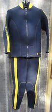 US Divers JM Cousteau 7mm 2 Piece Farmer John Wetsuit Medium Scuba Dive M Med