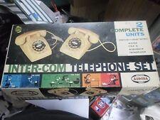 RARE Vtg 1960s AURORA  Inter-Com Telephone Play Set ORIGINAL BOX